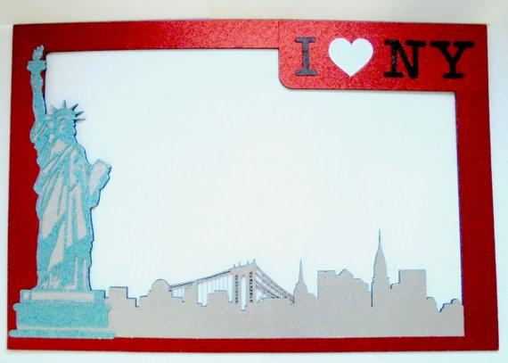Frame New York I love New York by weddingphotobooth on Etsy | I love ...