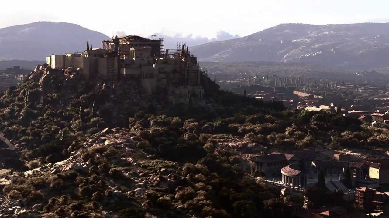 Recreation of Ancient Athens Acropolis by Whiskytree