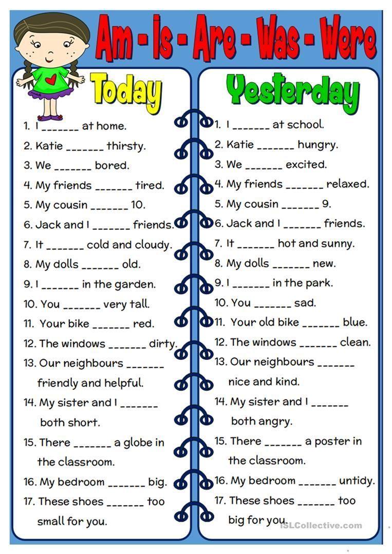 Am Is Are Was Were Worksheet Free Esl Printable Worksheets Made By Te English Grammar Worksheets English Worksheets For Kids English Grammar For Kids