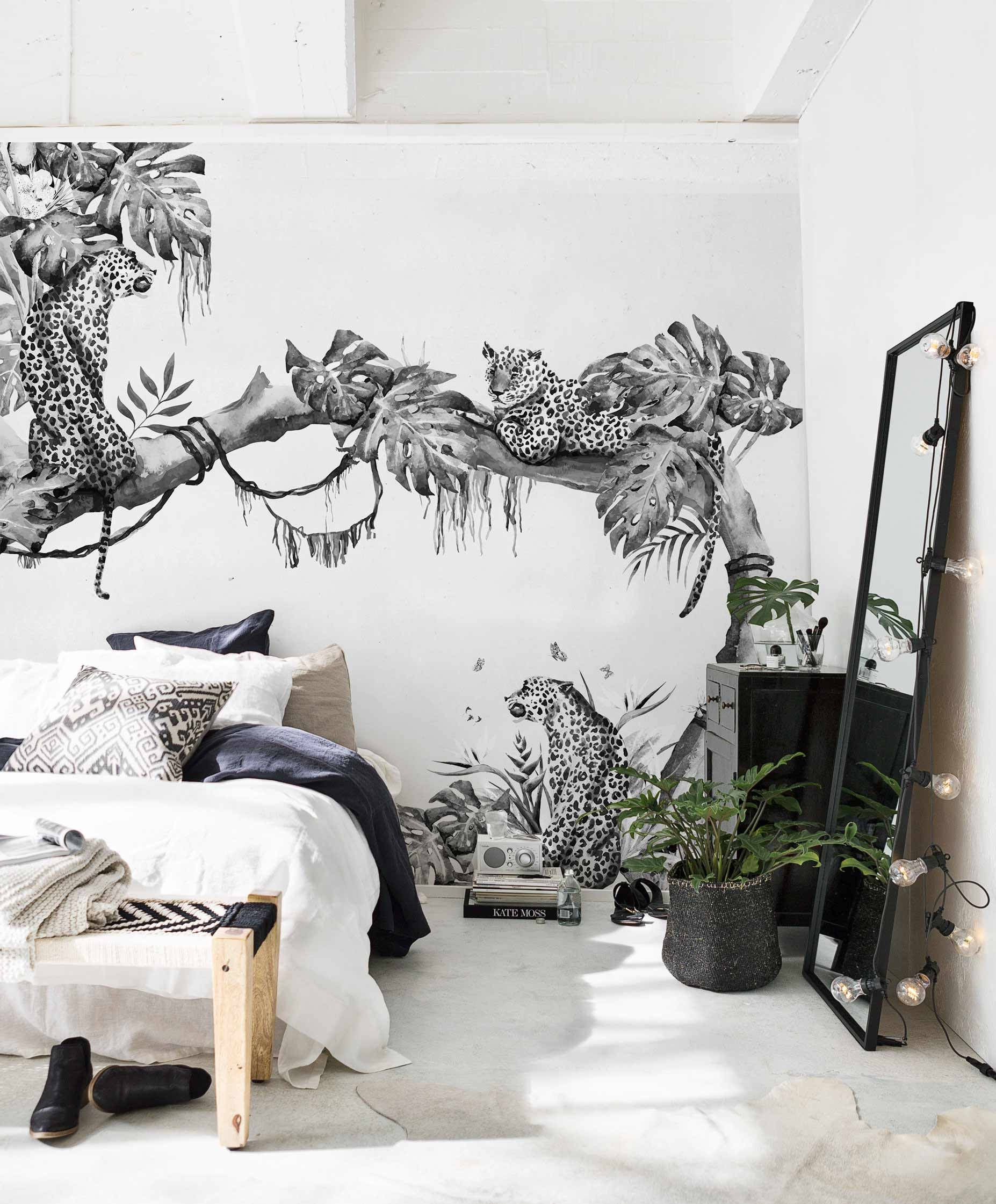 Are Wall Murals the New Wall Paper? 12 Monochrome Murals I\'m ...