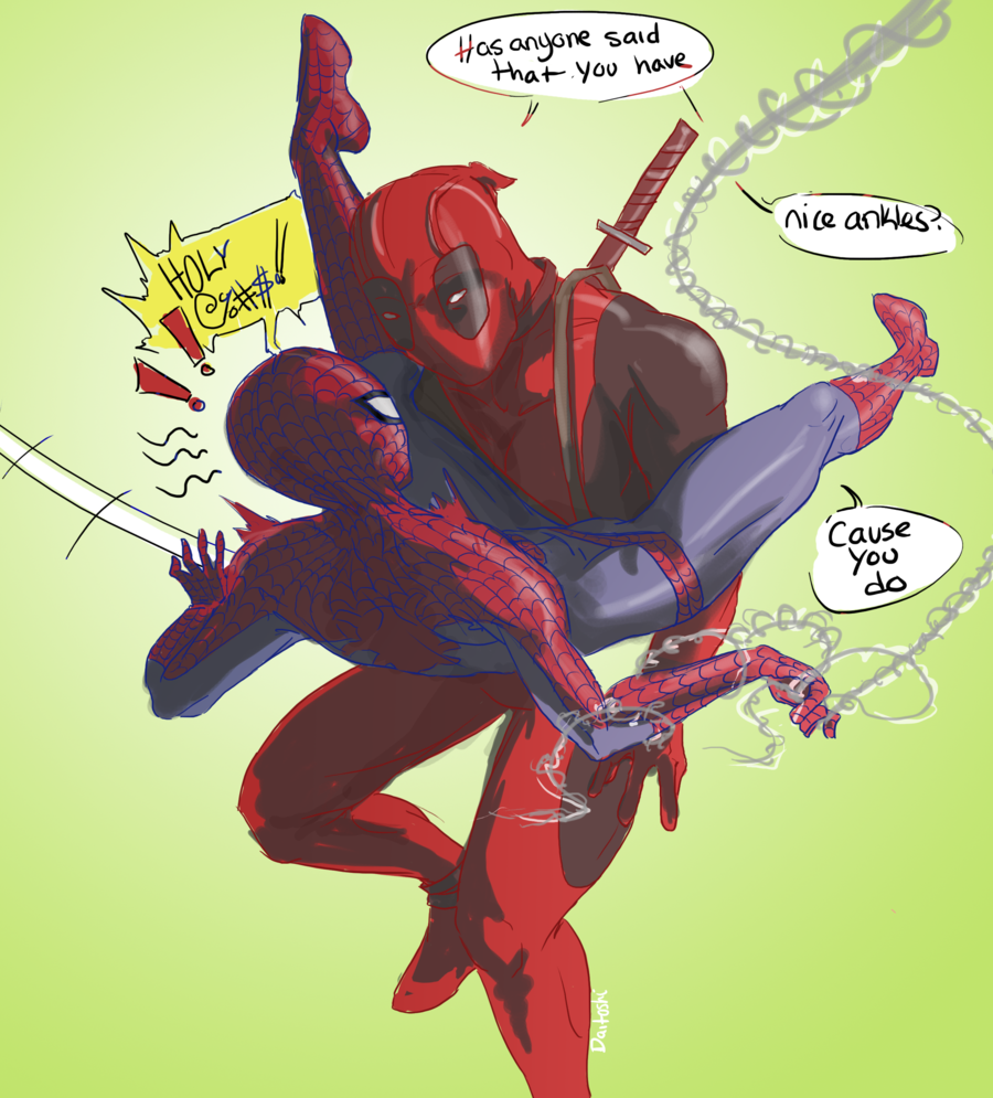 """Deadpool And Spider Man 1: """"I Was Thinking About Spideypool And I Imagined Deadpool"""