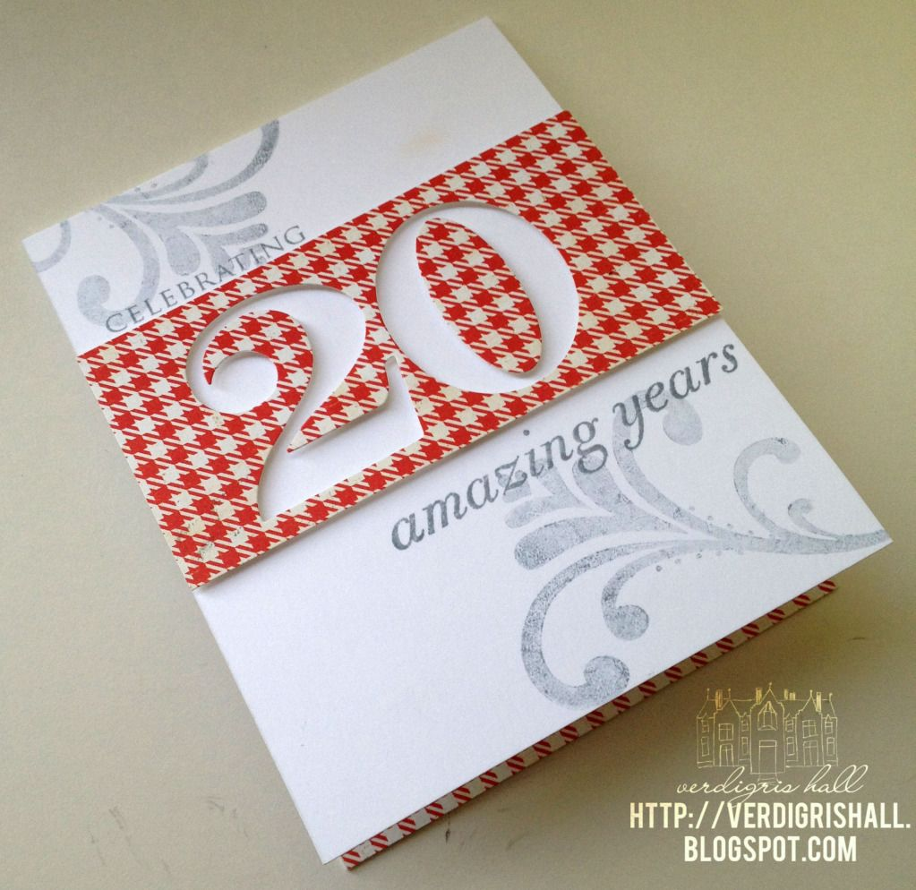 Blogged Clean Simple 20 Years Together Birthday Cards Cards Anniversary Cards