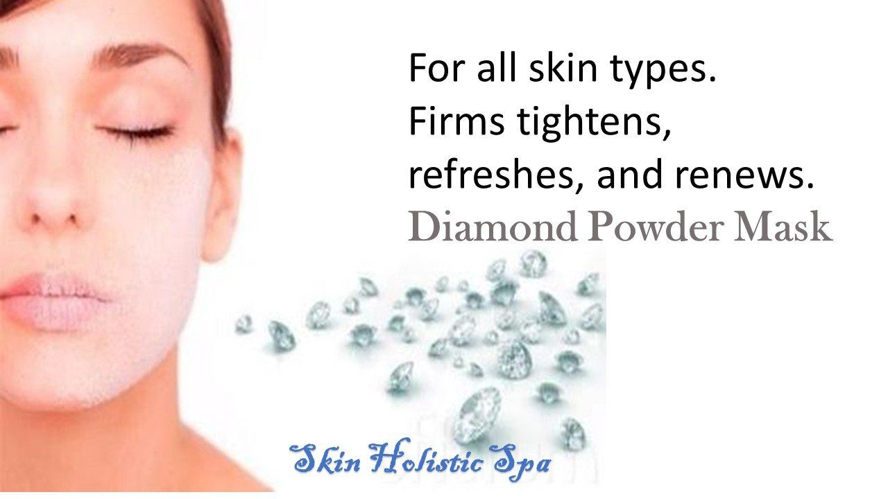Diamond Powder Mask, one of the luxurious masks ever. You do not need to go to Dubai to try it, you can do it here in Euless, Texas at Skin Holistic Spa.