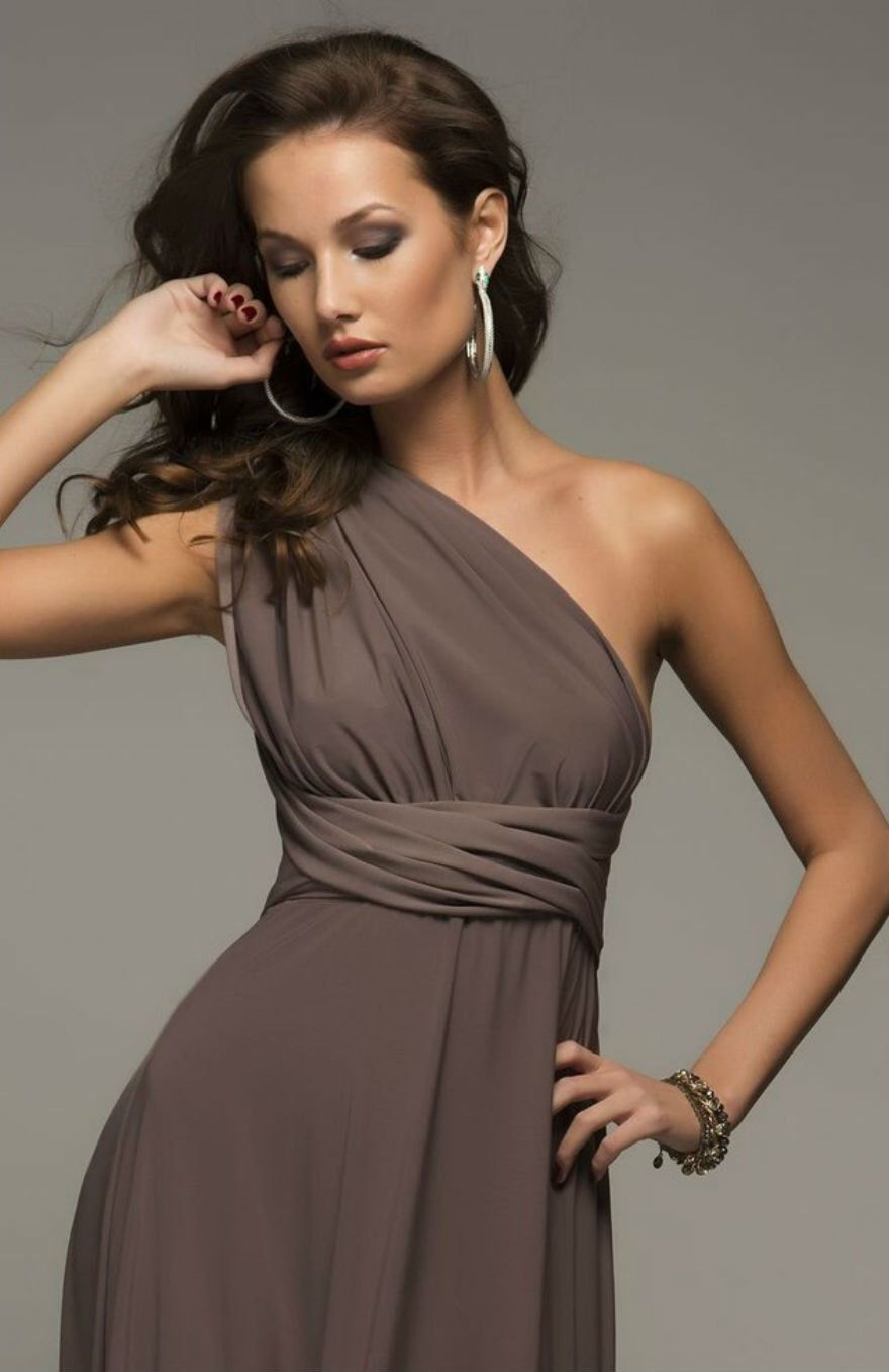 Bridesmaid floor length infinity mocha brown dress convertible bridesmaid floor length infinity mocha brown dress convertible wrap dress long dresses by dioriss ombrellifo Choice Image