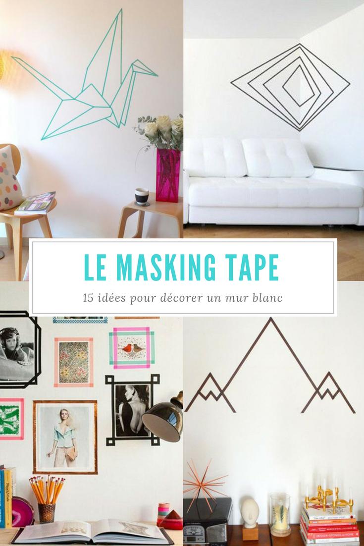 masking tape 12 id es pour d corer un mur blanc. Black Bedroom Furniture Sets. Home Design Ideas
