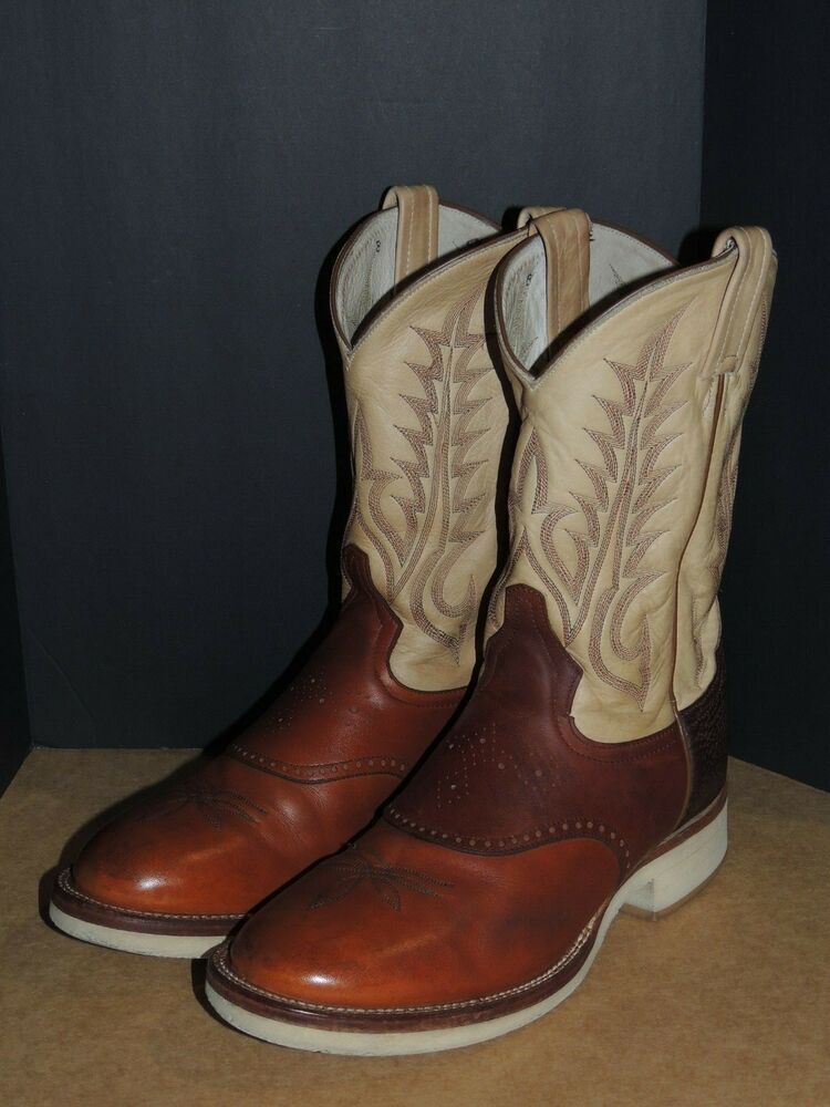 8d9edf1c2c2 Ending @ $19.95 Tony Lama Cowboy Boots Brown Ivory & Maroon Leather ...