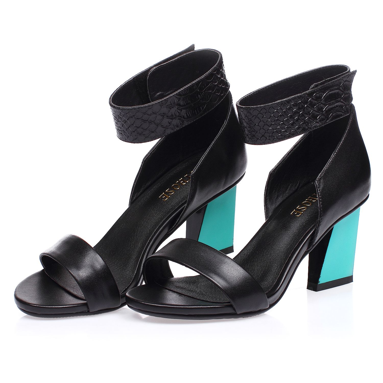 866d460175a Jady Rose Rhoda Leather Black Sandals (15DR1-2025)