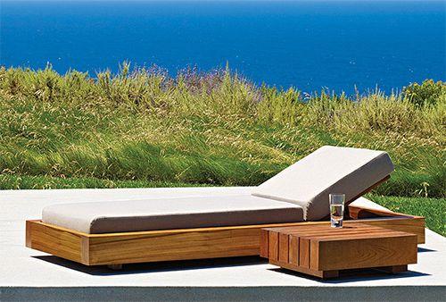 Wood Deck Furniture | Solid Teak Wood Outdoor Furniture By Marmol Radziner  For Danao Outdoor
