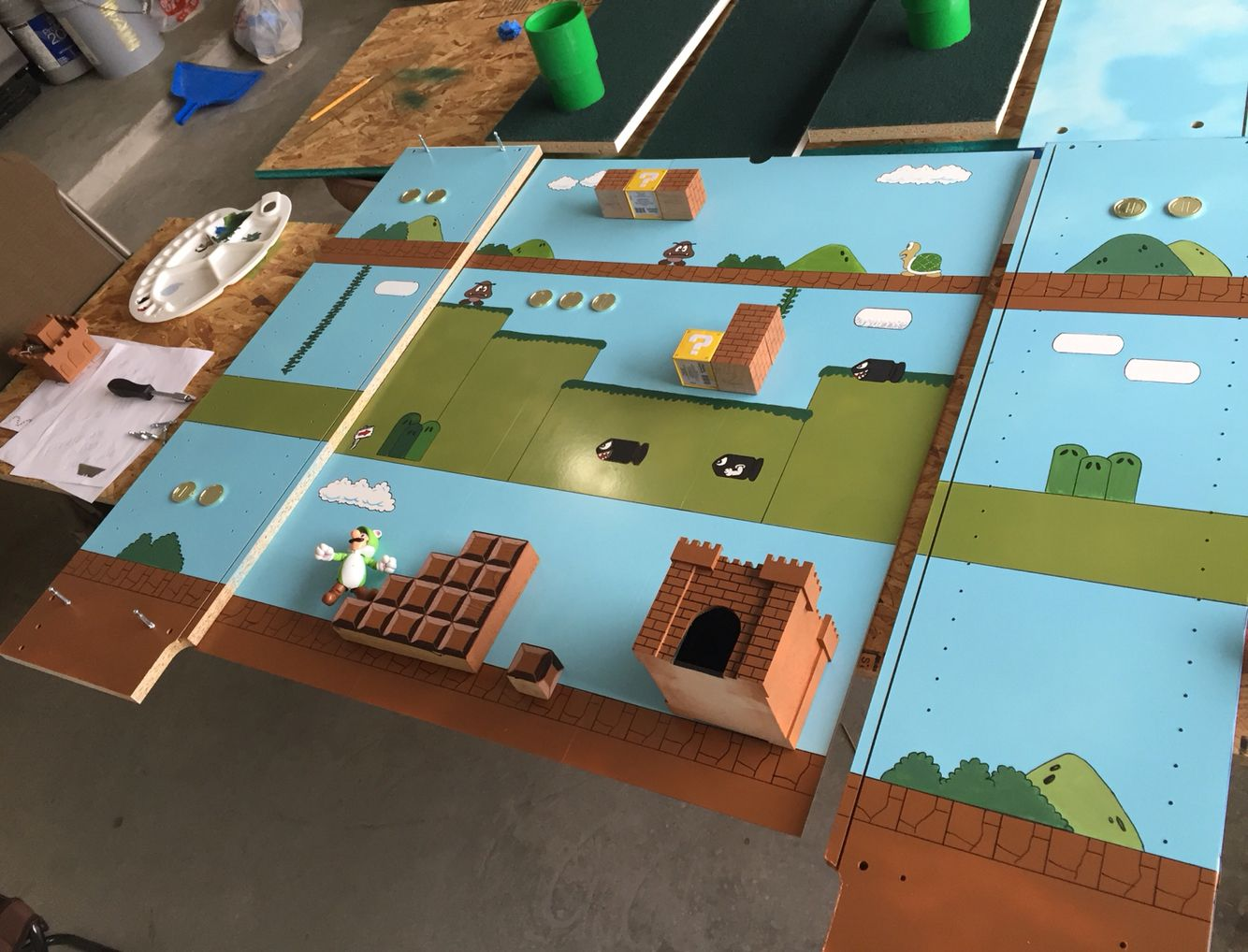 Backgrounds | Super Mario Playhouse | Pinterest | Mario bros, Kids ...