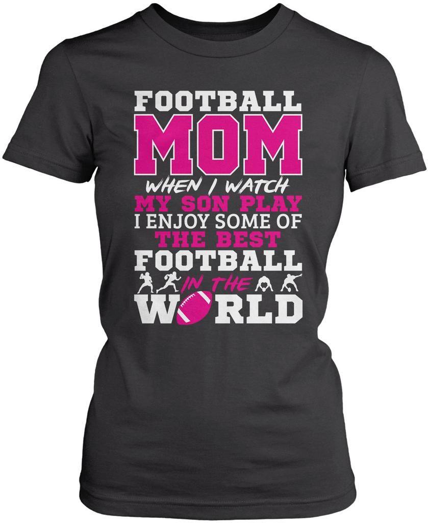 Football mom watch my son play tshirt hoodie