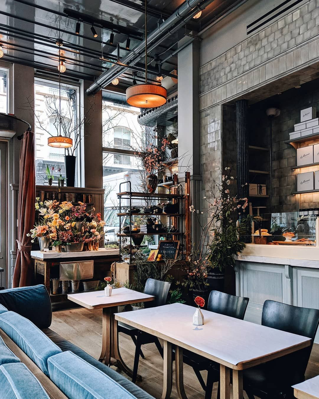 la mercerie cafe commercial interiors cafe design, cafe nyc