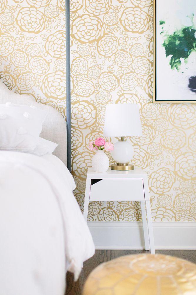Dove Residence Gold Bedroom White Bedroom Design Bedroom Design White and gold bedroom wallpaper
