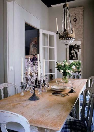 Vintage Dining Room French Country Elegance With A