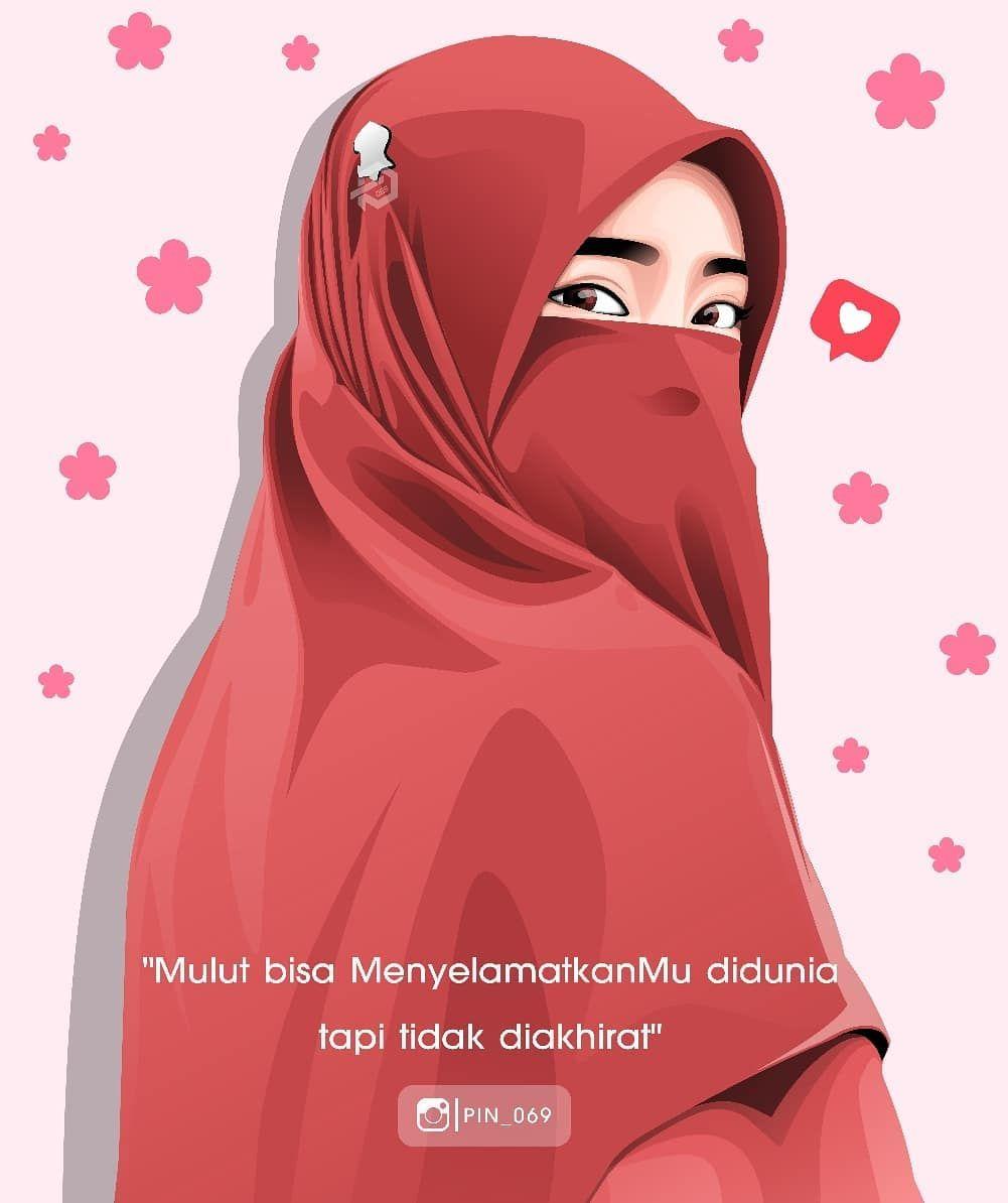 Pin Di Hijab Cartoon