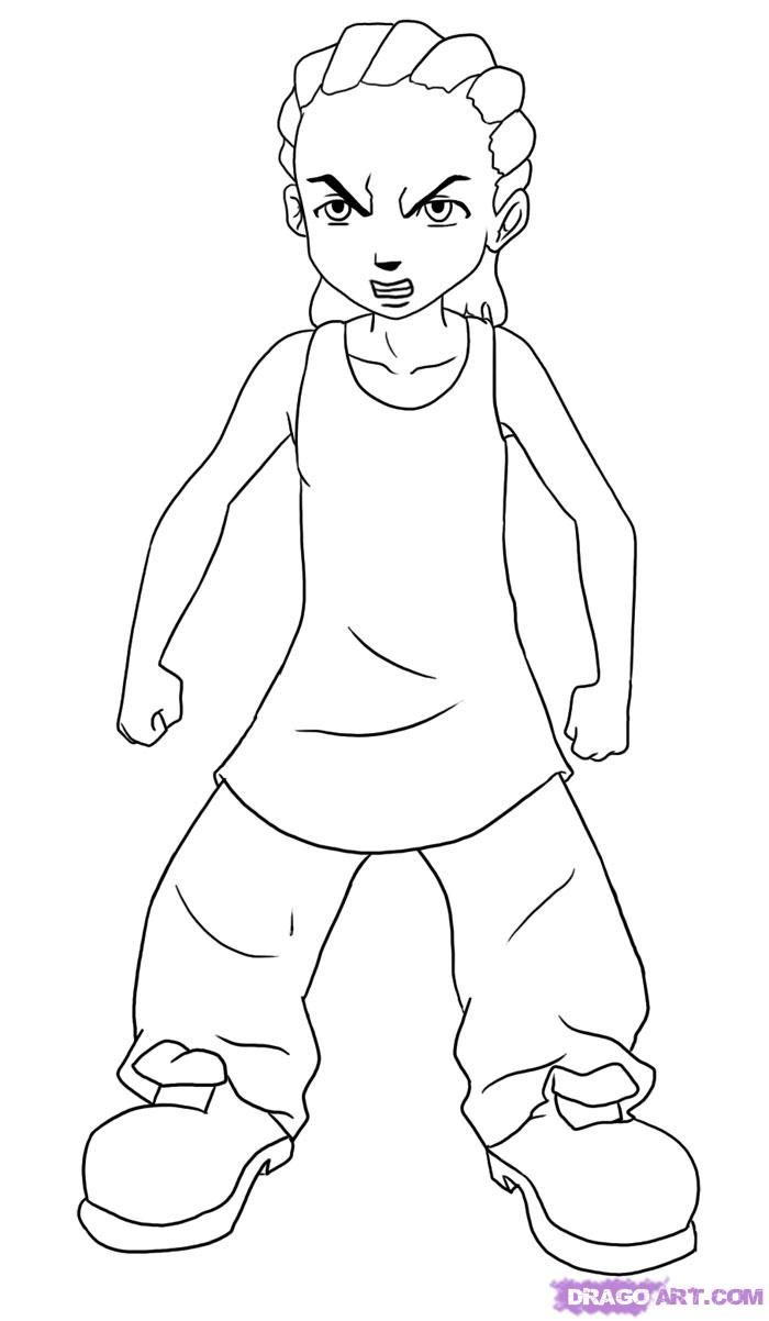 Boondocks Riley Coloring Pages  Staging your home before your