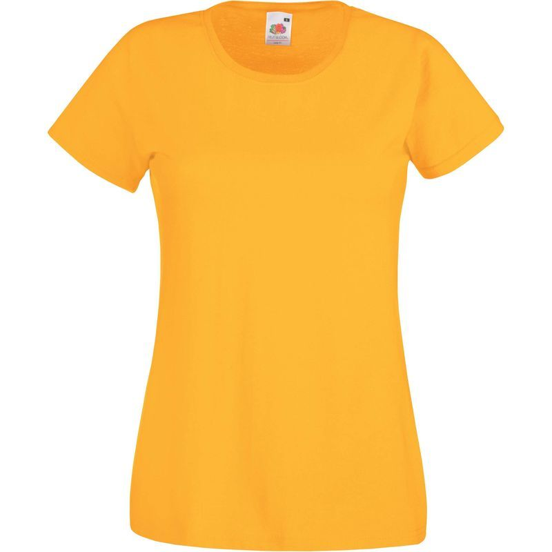** Fruit of the Loom Ladies Value Weight T-Shirt Top Smart Fashion XS to XXL