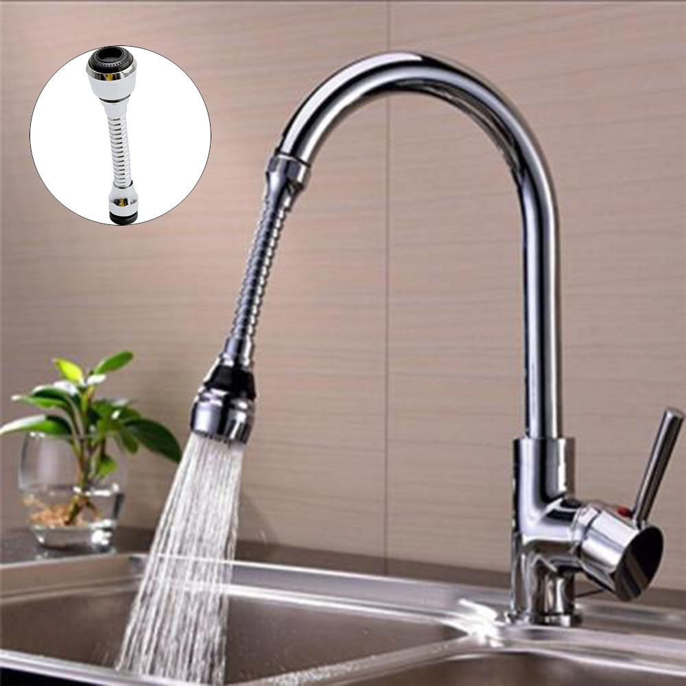 Faucet Nozzle 360 Degree Aerator Swivel Tap Water Saving  Brass Sprayer Sink