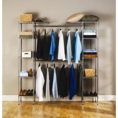 Seville Classics Expandable Closet Organizer SHE05813BZ At The Home Depot     $109, Stand