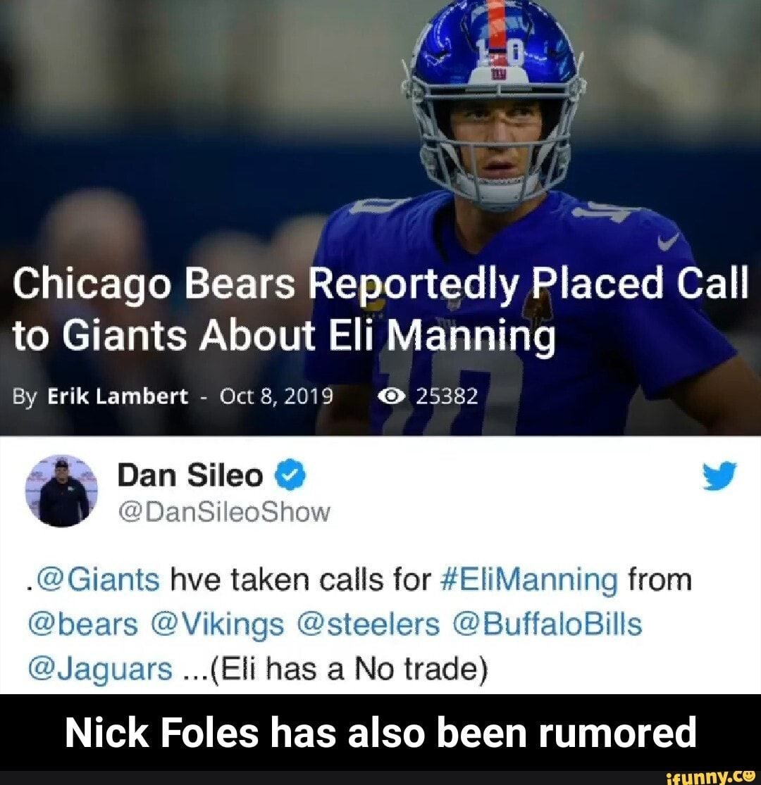 Nick Foles Memes Bears