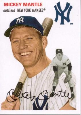 FREE SHIPPING!2012 TOPPS ARCHIVES MICKEY MANTLE #22