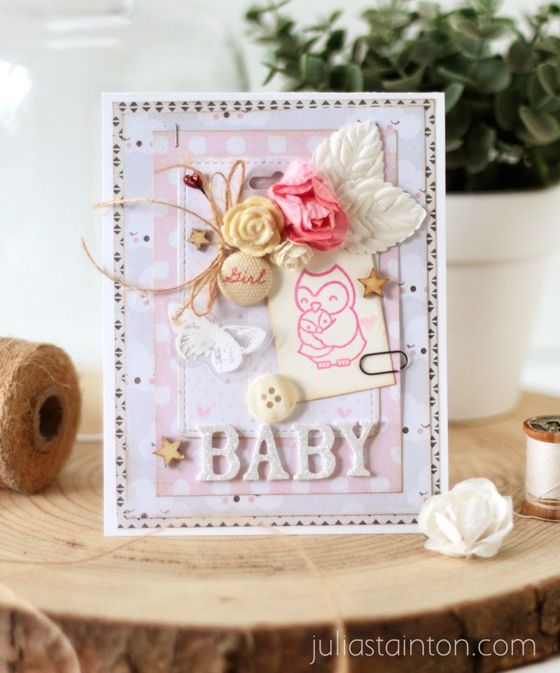 Charity Blog Hop Belle Papier Baby Cardsmaking