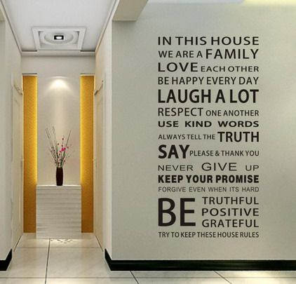 Cute Family Love An Life Quotes Wall Stickers Decals In Modern House Interior Designs Ideas