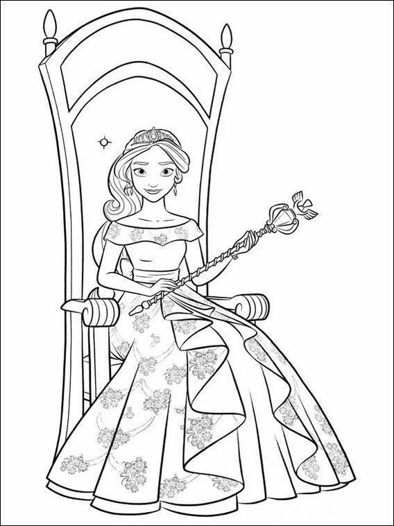 Desenhos para colorir para crianças para imprimir Elena de Avalor 7 ...