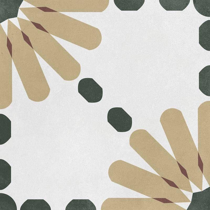 Carrelage Imitation Carreau De Ciment Decor Jaune Et Vert