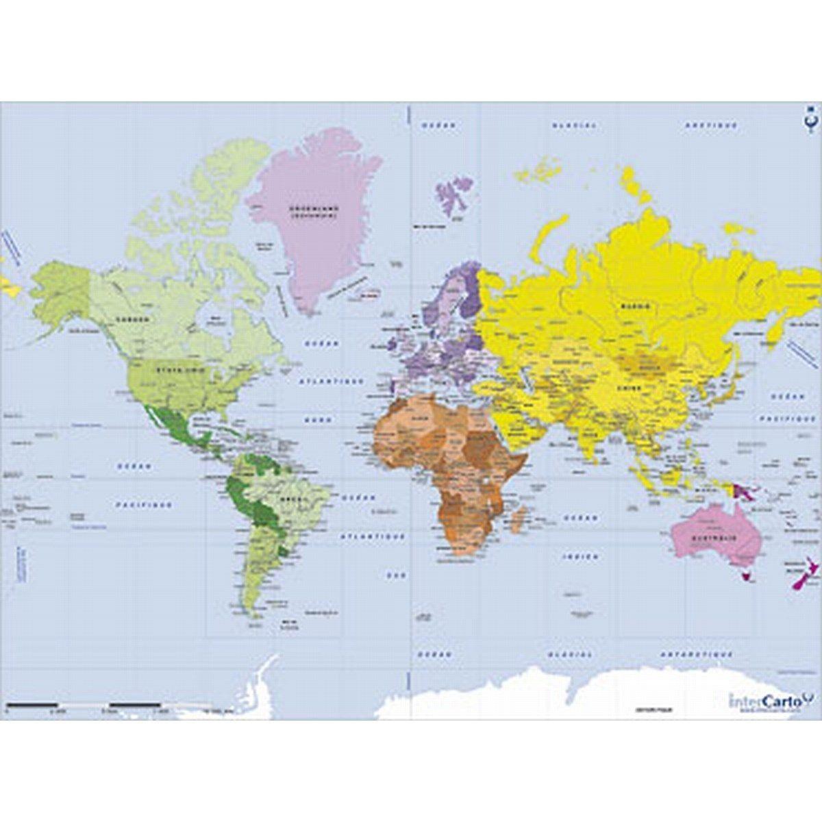 Puzzle En Bois Art Maxi 50 Pieces Geographie Carte Du Monde