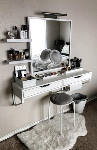 My battle station! : MakeupAddiction  #Makeup #Vanity #IKEA Nail Design, Nail Art, Nail Salon, Irvine, Newport Beach