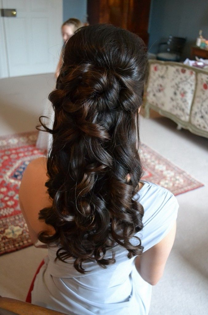 Half Up Half Down Hairstyles Front And Back View Wedding My