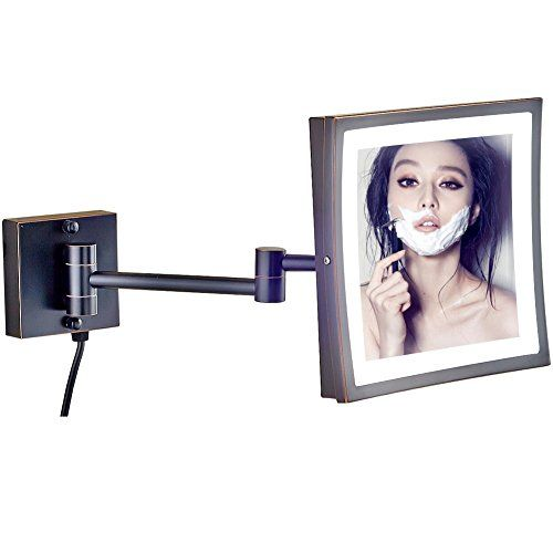Gurun 85inch Adjustable Led Lighted Wall Mount Makeup Mirror With