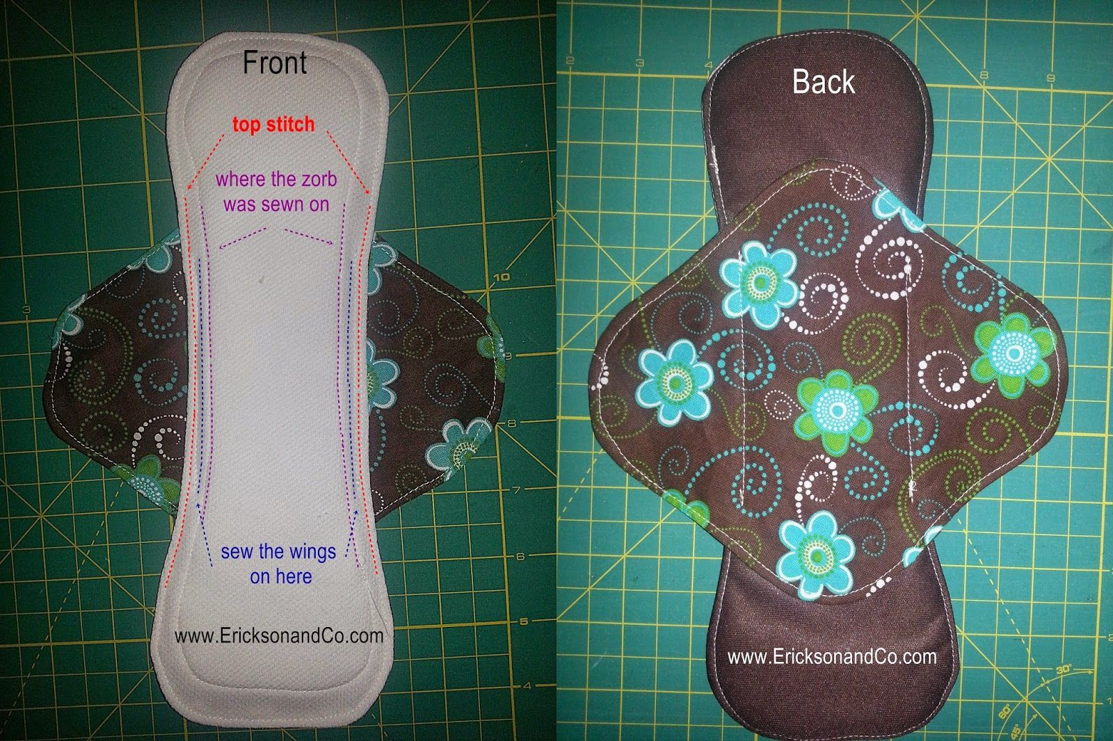 Erickson and Co.: {Tutorial} Making Cloth Menstrual Pads ...