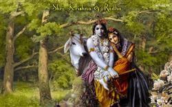 Lord Shri Krishna And Radhe With Natural Background Hd Wallpaper