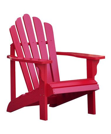 Look what I found on #zulily! Tomato Red Westport Adirondack Chair #zulilyfinds