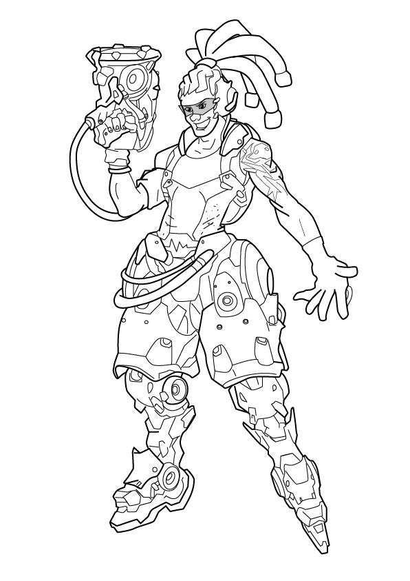 Pin by marjolaine grange on coloriage overwatch | Pinterest