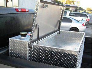 Fuel Tank Toolbox Combo Diy Truck Bedding Metal Tool Box Tool Box