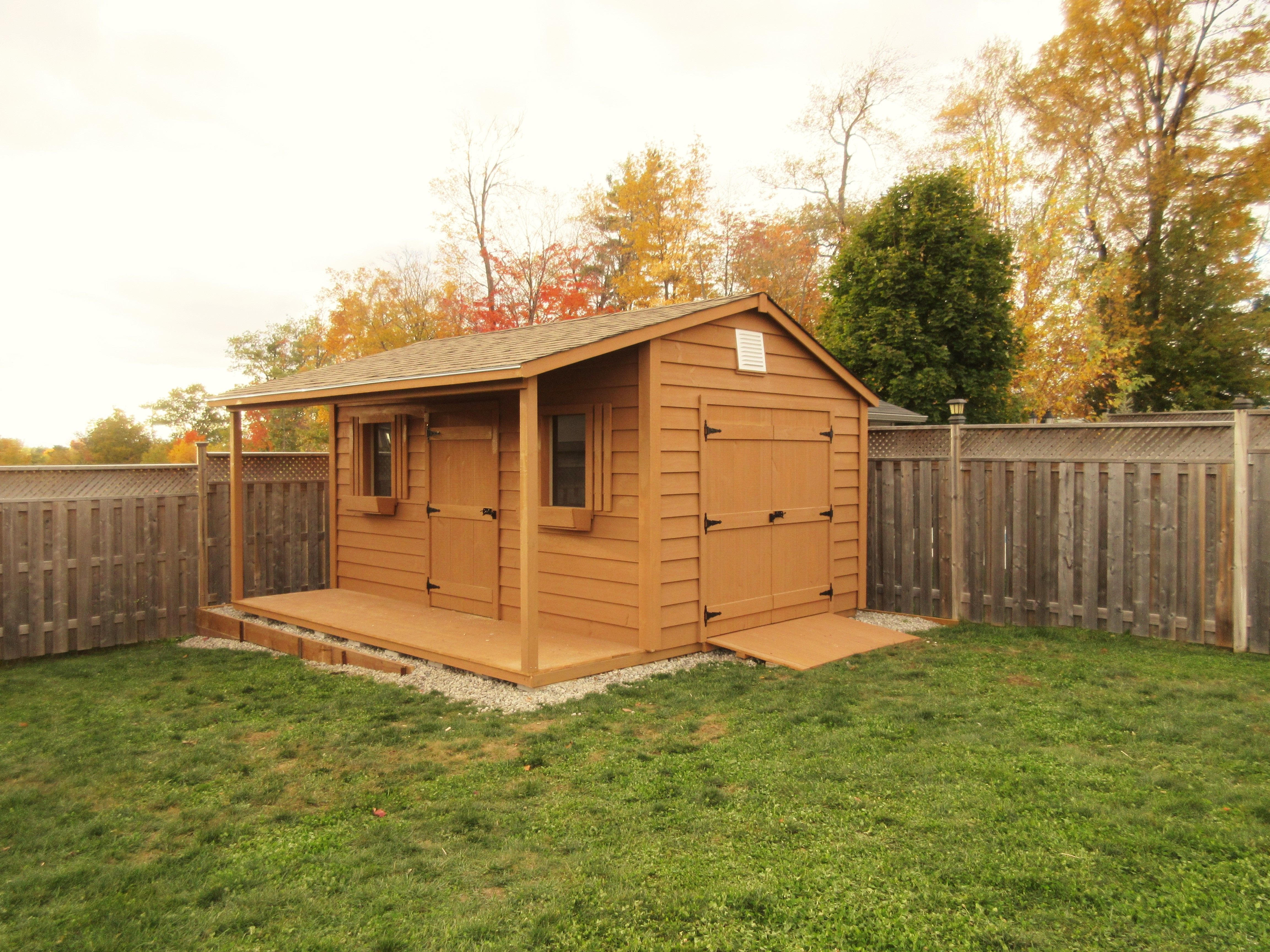 10x14 with 4 foot side porch and double doors shed with on extraordinary unique small storage shed ideas for your garden little plans for building id=95744