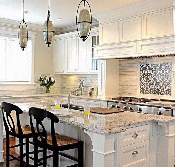 White Kitchen Cabinets Granite Countertops: Granite Colors For White Cabinets Bianco Romano Granite