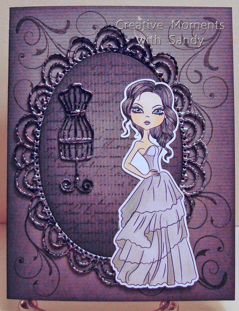 SweetStamps BLOG ; Globecraft and Piccolo frame and Sweet Stamps image DT sandy