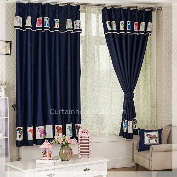 Designer Children Room Dark Blue Buy Blackout Curtains Online