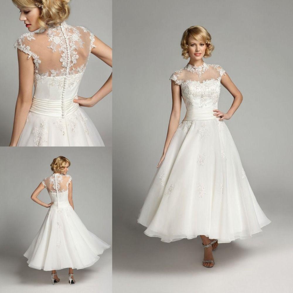 Click to buy ucuc robe de mariage romantic aline wedding dresses high