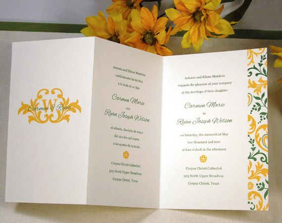 Hebrew English Wedding Invitations: Bilingual Wedding Invitations
