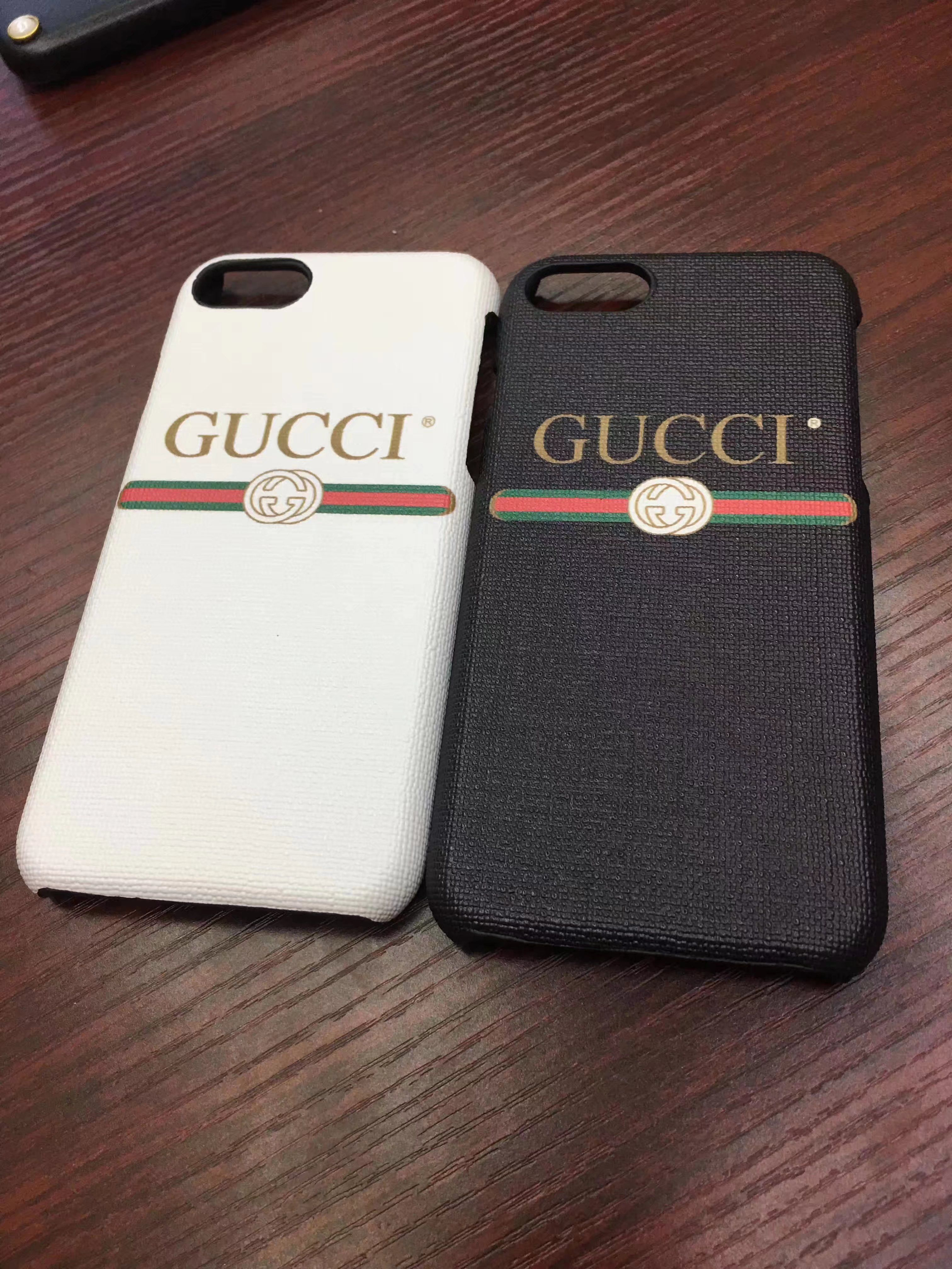 premium selection b895f 71666 グッチGucciシンプルiPhone8/7s/6plusケース アイフォン7plus/6s ...