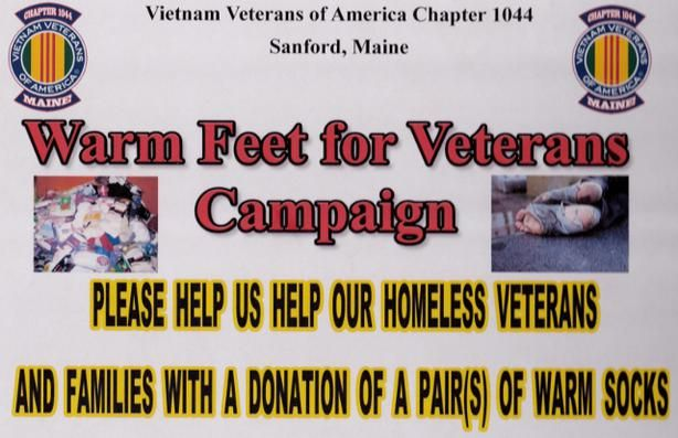 Donate Socks And Help Keep Our Homeless Veterans And Their