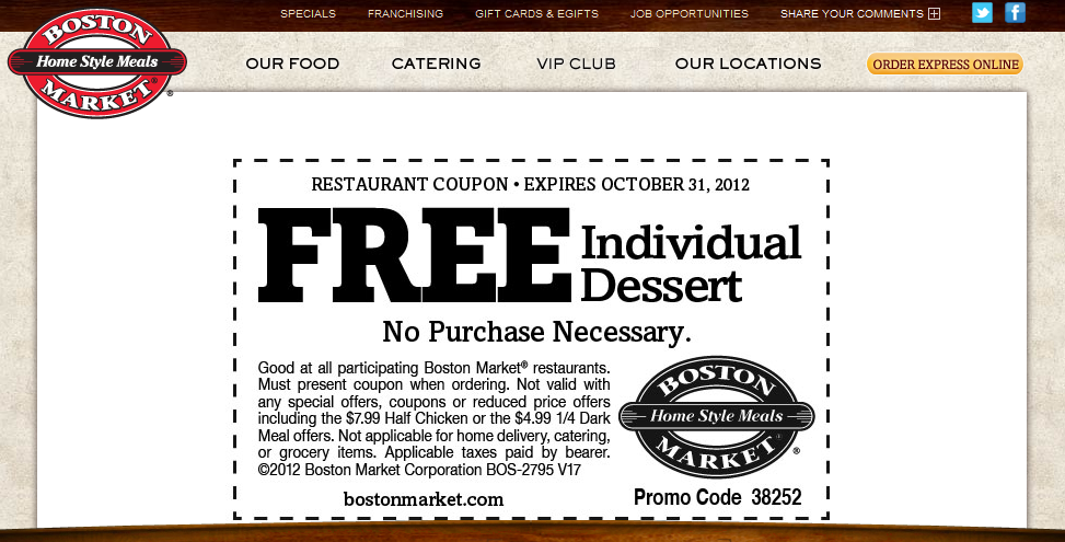 Boston Market Deal! Boston market, Restaurant coupons