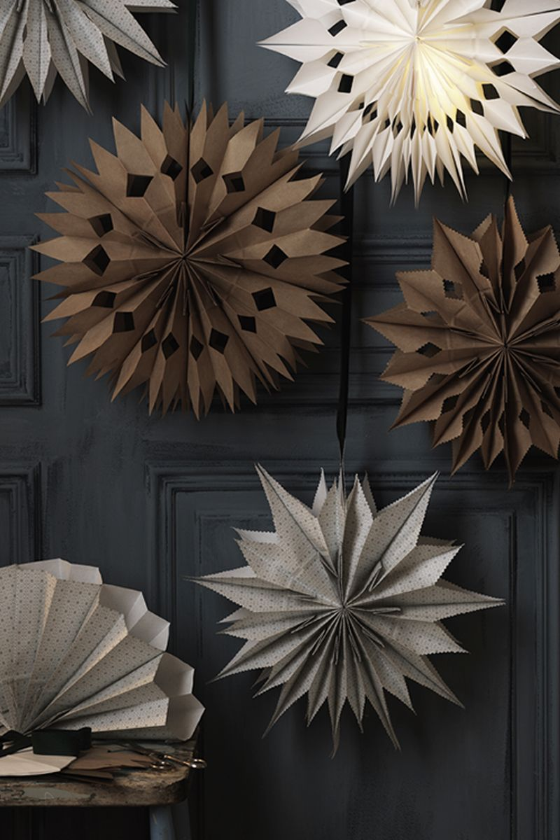 DIY Paper Bag Stars for Christmas