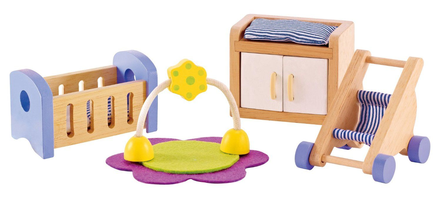 cheap wooden dollhouse furniture. Amazon.com: Hape - Baby\u0027s Room Wooden Doll House Furniture: Toys \u0026 Games Cheap Dollhouse Furniture L