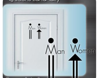 Restaurant Bathroom Signs decals for glass doors - google search | decals | pinterest