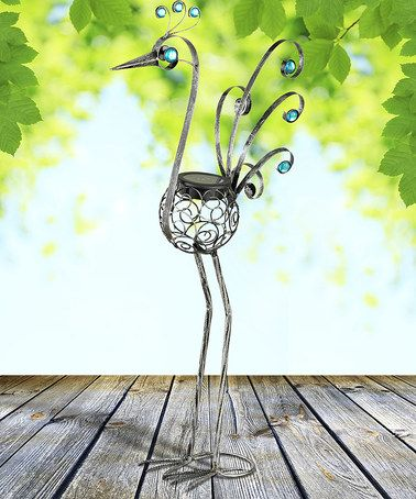 Another great find on #zulily! 21'' Pewter Solar Filigree Bird Statue #zulilyfinds